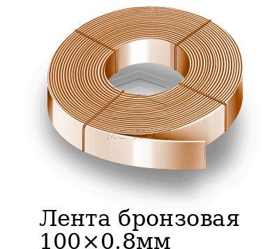 Лента бронзовая 100×0.8мм, марка БрБНТ1.9м