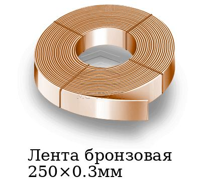 Лента бронзовая 250×0.3мм, марка БрОФ6.5-0.15т