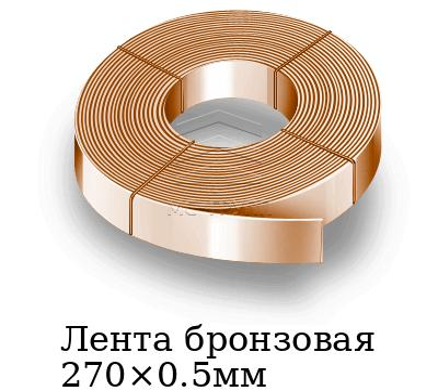 Лента бронзовая 270×0.5мм, марка БрБНТ1.9т