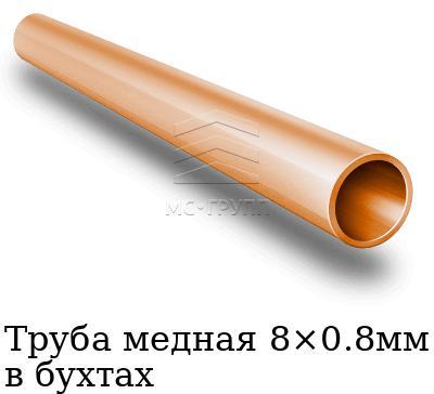 Труба медная 8×0.8мм в бухтах, марка М1м