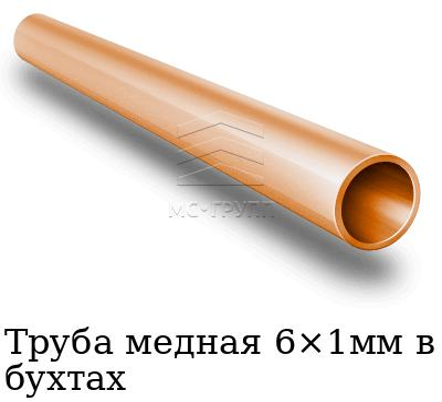 Труба медная 6×1мм в бухтах, марка М2м