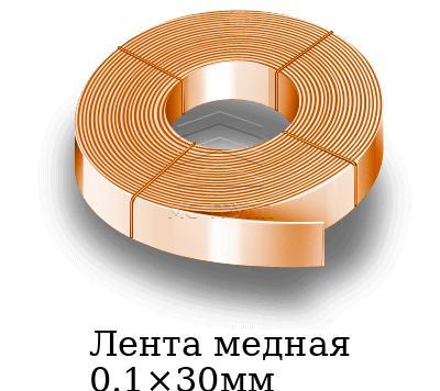 Лента медная 0.1×30мм, марка М1т