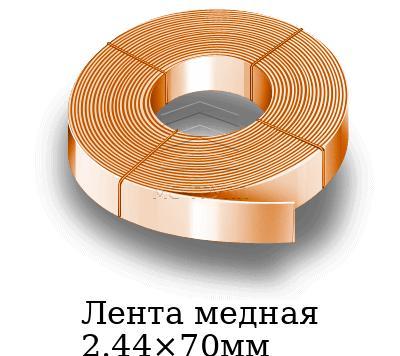 Лента медная 2.44×70мм, марка М1м