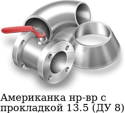 Американка нр-вр с прокладкой 13.5 (ДУ 8), марка AISI 304