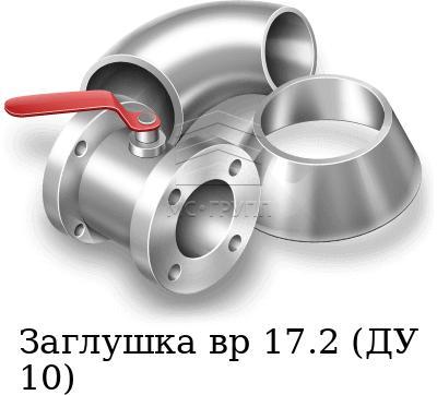 Заглушка вр 17.2 (ДУ 10), марка AISI 316