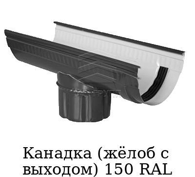 Канадка (жёлоб с выходом) 150 RAL