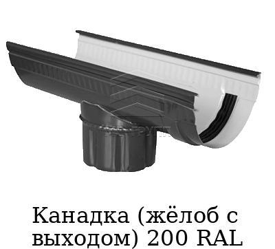 Канадка (жёлоб с выходом) 200 RAL