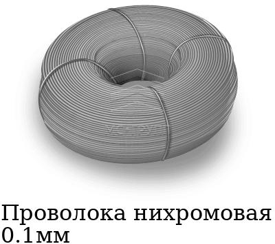 Проволока нихромовая 0.1мм, марка Х20Н80-Н