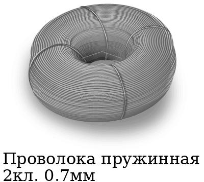 Проволока пружинная 2кл. 0.7мм, марка ст65Г, ст70