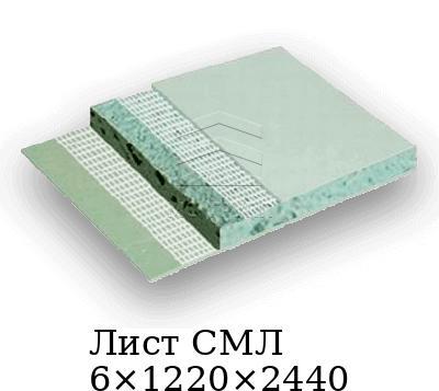 Лист СМЛ 6×1220×2440