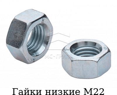 Гайки низкие М22