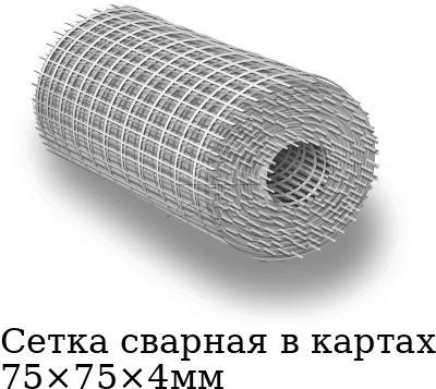 Сетка сварная в картах 75×75×4мм, марка AISI 304 (08Х18Н10)