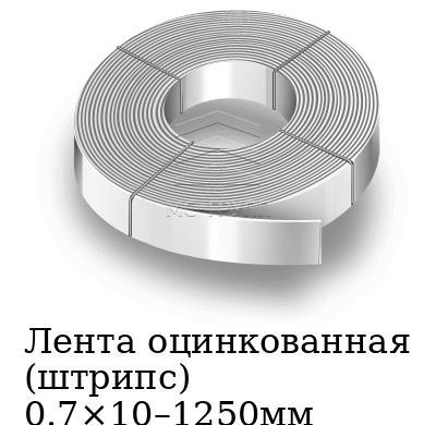 Лента оцинкованная (штрипс) 0.7×10–1250мм, марка 08пс, 08кп, 08ю