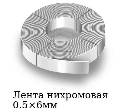 Лента нихромовая 0.5×6мм, марка Х20Н80