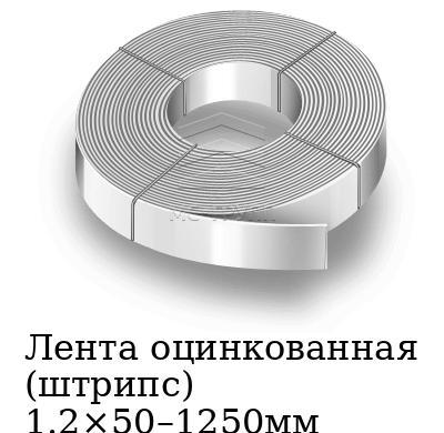 Лента оцинкованная (штрипс) 1.2×50–1250мм, марка 08пс, 08кп, 08ю