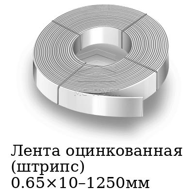 Лента оцинкованная (штрипс) 0.65×10–1250мм, марка 08пс, 08кп, 08ю