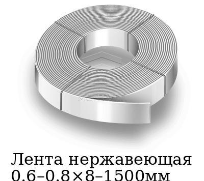 Лента нержавеющая 0.6–0.8×8–1500мм, марка AISI 430