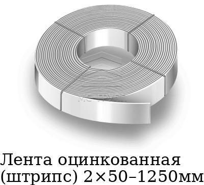 Лента оцинкованная (штрипс) 2×50–1250мм, марка 08пс, 08кп, 08ю