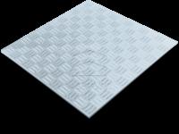 Лист рифлёный алюминиевый фото