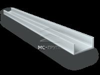 Швеллер алюминиевый 25×40×25×2